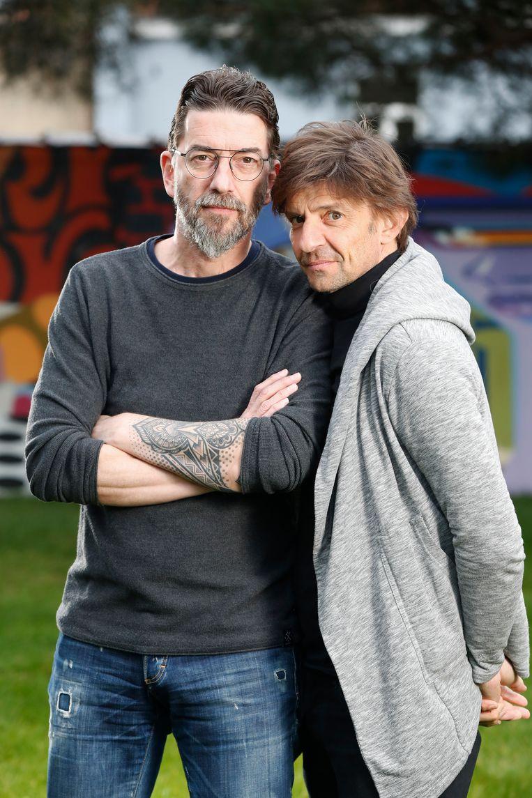Clouseau  Koen en Kris Wauters  portretten HLN Dag Allemaal Platenkast  november 19