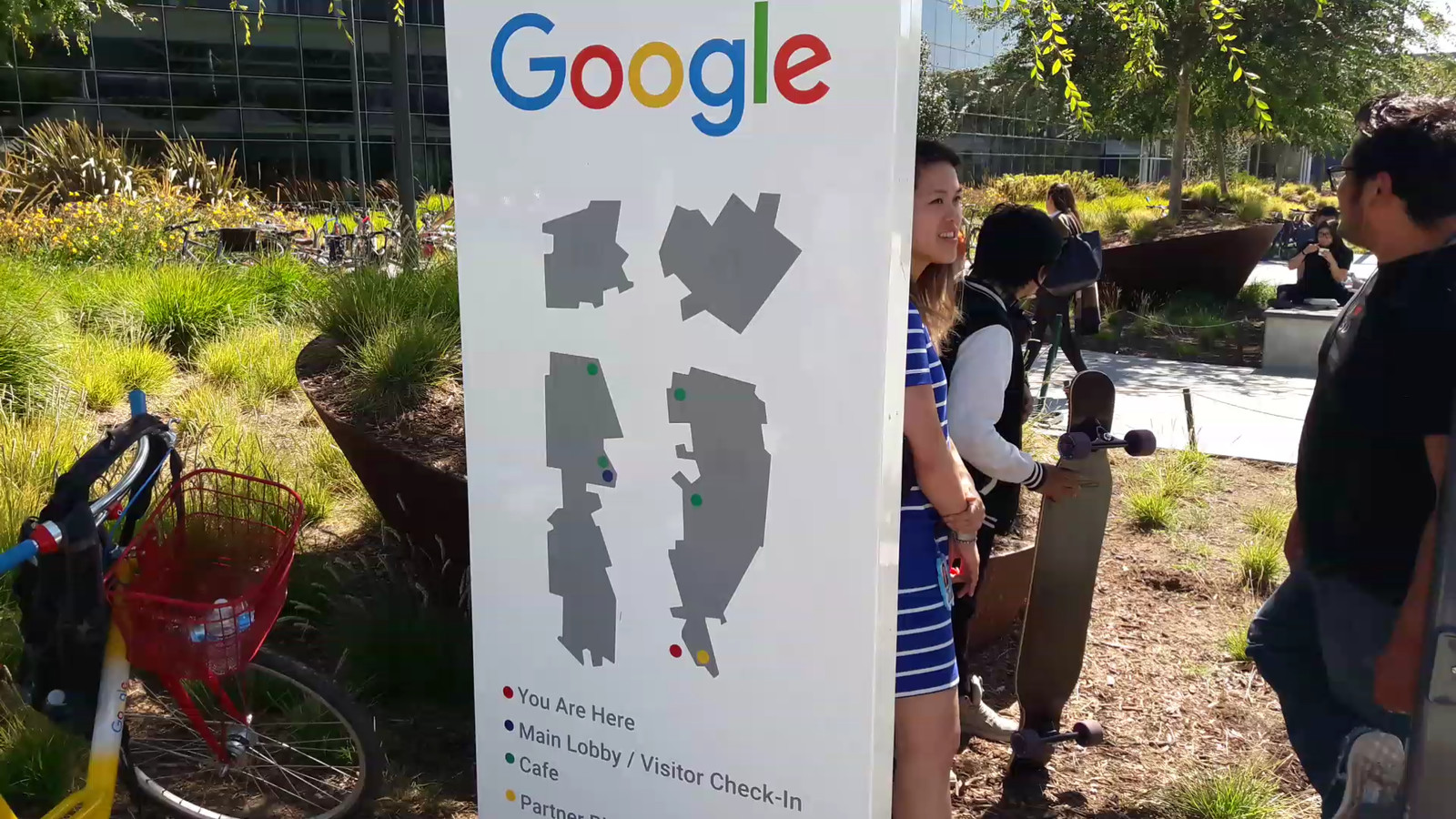 Google-werknemers in Mountain View