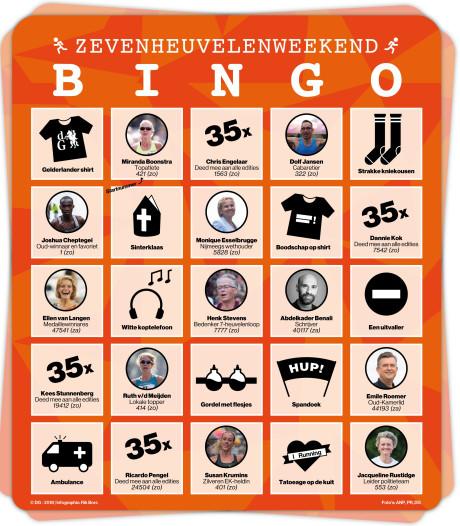 Zevenheuvelenloop: bingo en veel cijfers
