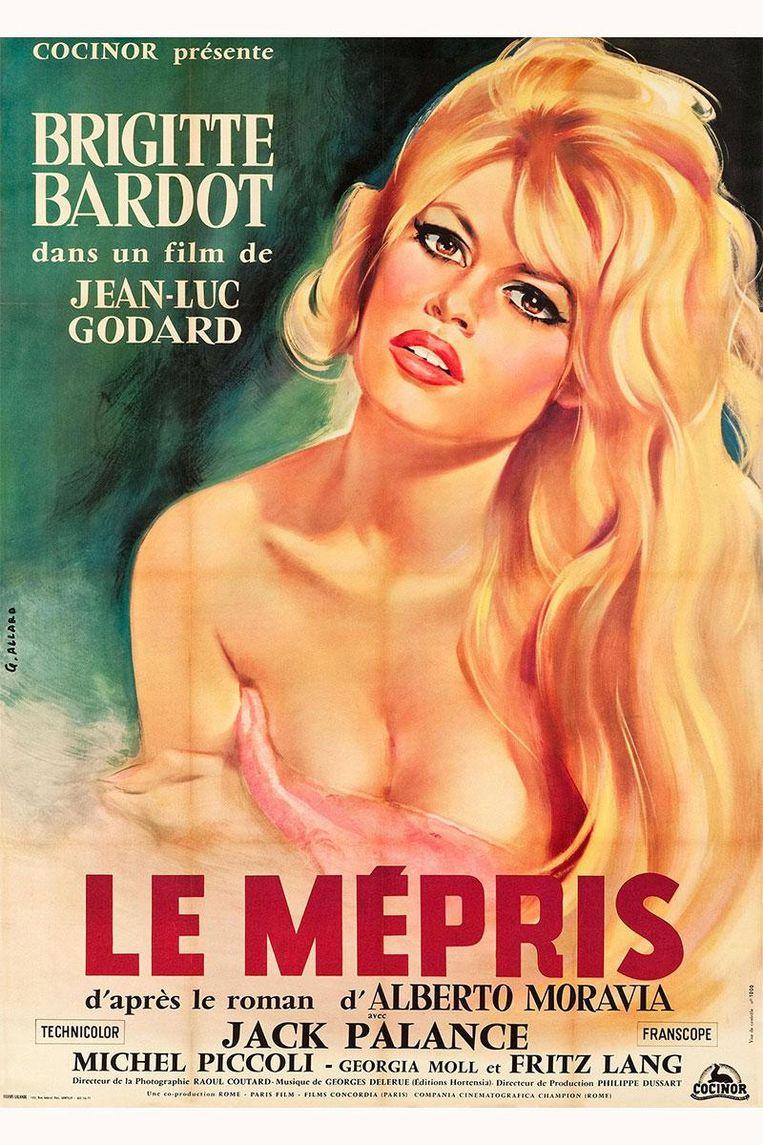 Affiche voor Le mépris (1963) Beeld