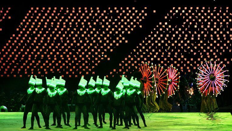 De presentatie van Rio 2016 tijdens de sluitingsceremonie van de Olympische Spelen Londen in 2012. Beeld anp