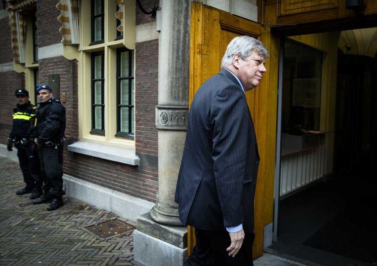Minister Ivo Opstelten van Veiligheid en Justitie vandaag op het Binnenhof Beeld anp