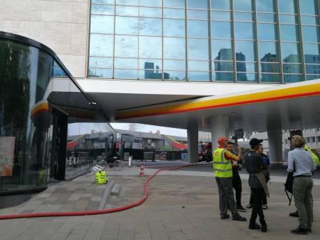 Brand bij Shell Hofplein onder controle