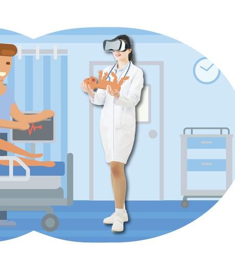 De 'avatars' veroveren het ziekenhuis: in virtual reality echte situaties oefenen