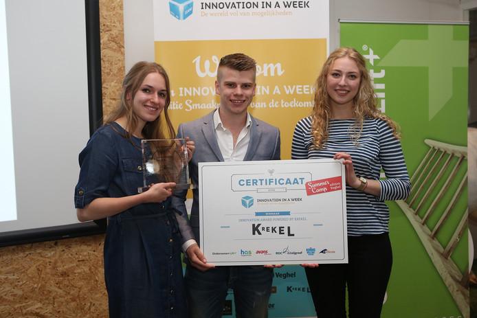 Daniela van Herwijnen, Coen Vlothuizen en Neeltje Meijler zijn de winnaars van de Innovation Award