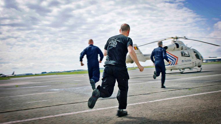 'De luchtpolitie'.
