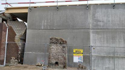 Schoorsteen van oude brouwerij wacht op wederopbouw