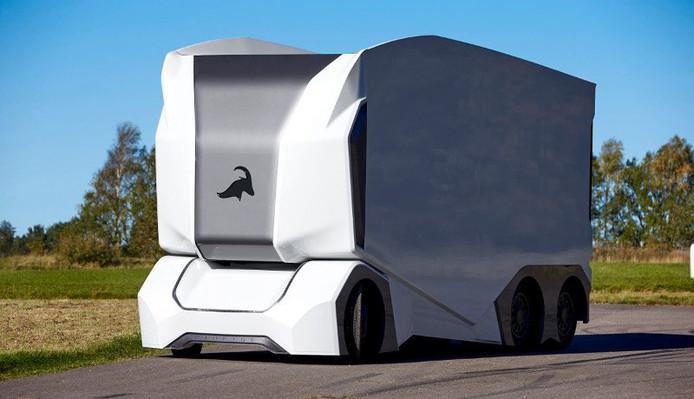 Een cabine ontbreekt in de revolutionaire truck, want een chauffeur is toch niet meer nodig.
