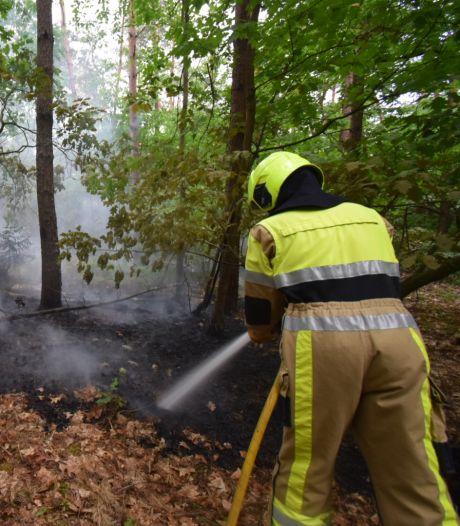 24 brandweerlieden bestrijden grote 'onzichtbare' bosbrand in Groesbeek