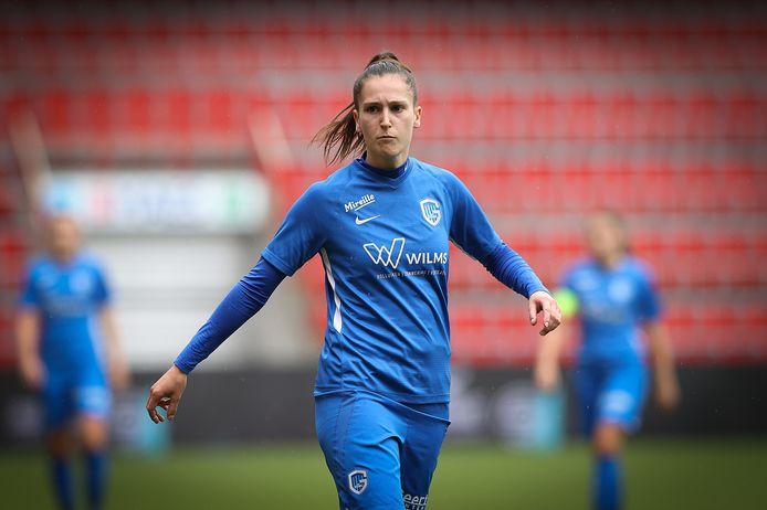 Gwen Duijsters scoorde tegen Aalst alle Genkse goals. Het was haar tweede hattrick van het seizoen.