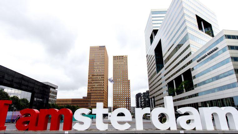 De Zuidas, het zakelijk district van Amsterdam. Beeld anp