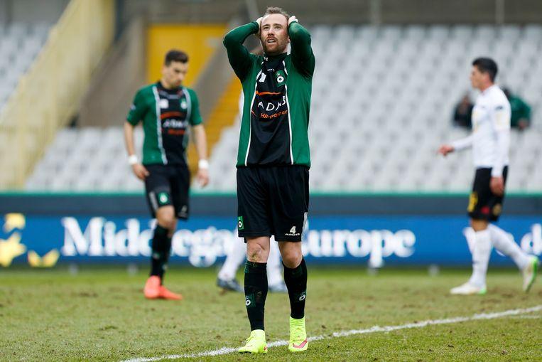 Bart Buysse in 2015 na het late verlies tegen KV Mechelen.