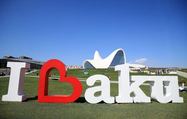 """""""I love Baku"""", maar daar denken veel supporters vanavond wellicht anders over."""