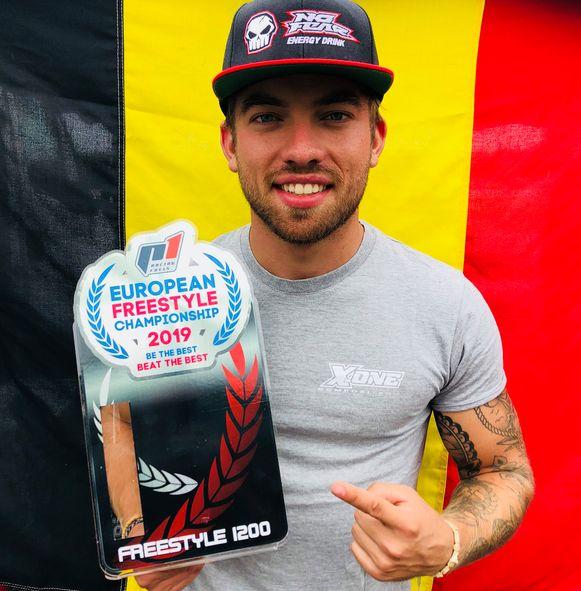 Niels Willems is Europees kampioen freestyle jetskiën
