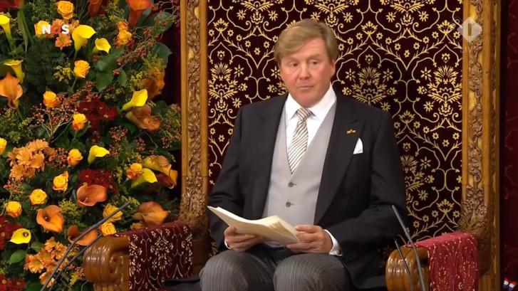 Zo sprak de koning vandaag de troonrede uit