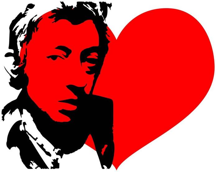 Serge Gainsbourg. Illustratie Jeroen van Doornik
