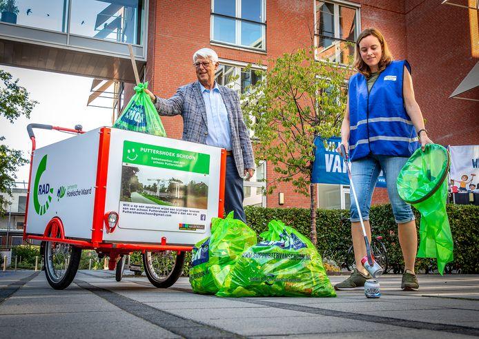 Puttershoek schoon ontvangt nieuwe bakfiets van Gemeente HW en RAD Hoeksche Waard.