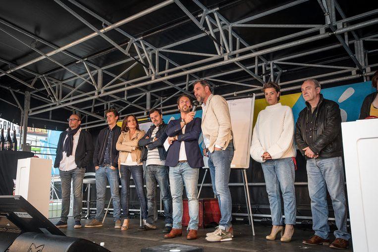 Kadèr Gürbüz, Geert Hunaerts, Christophe Haddad, Peter Van De Velde, Leen Dendievel en Daan Hugaert.