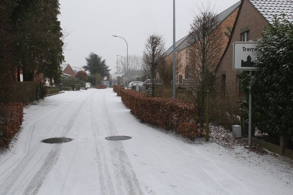 Sneeuw op de grens van Keerbergen en Tremelo.
