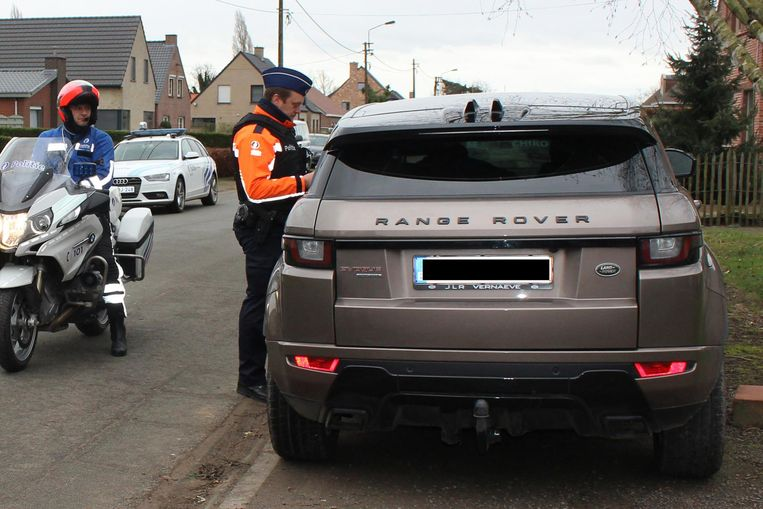 De politie controleerde gisteren onder meer in de Rechtstraat in Lokeren.