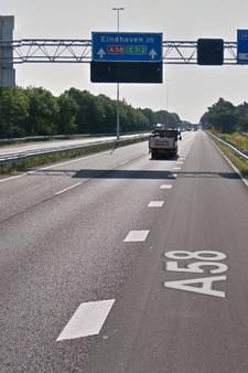 Dit weekend is de A58 richting Eindhoven dicht