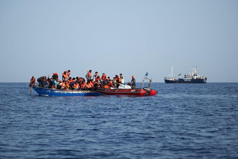 De Duitse hulporganisatie Sea-Eye is met zijn schip de Alan Kurdi aangekomen in Libië (archiefbeeld ter illustratie).