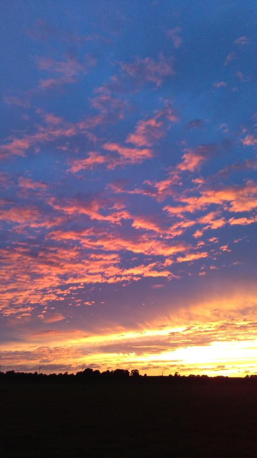 Zonsondergang boven Grafhorst