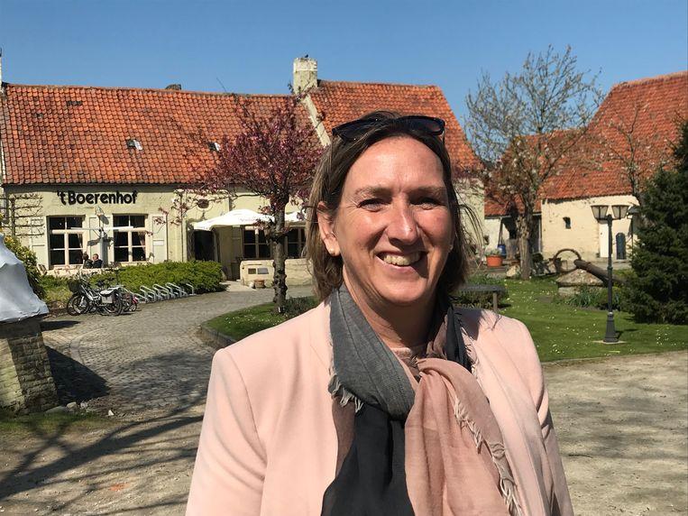 Cathy Coudyser aan 't Boerenhof.