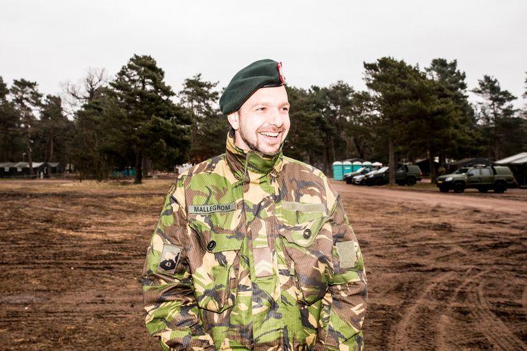 Een van de reservisten in Duitsland. Beeld Jan Mulders