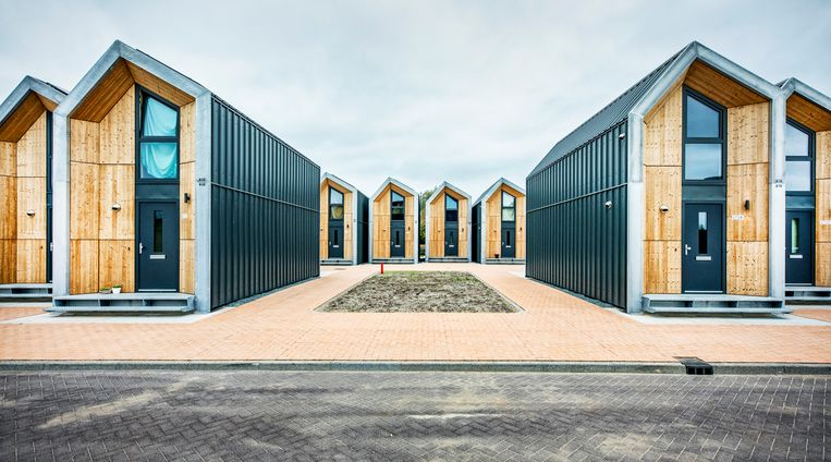 Opstapwoningen in Nijkerk Beeld Raymond Rutting / de Volkskrant
