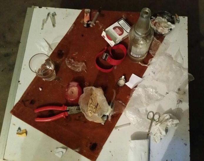 Dit trof de politie aan bij een recente huiszoeking in een drugspand aan de Rondostraat.