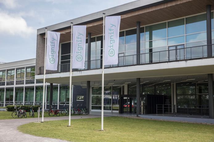 Het hoofdkantoor van lichtbedrijf Signify op de High Tech Campus in Eindhoven.