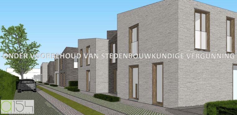 Toekomstbeeld van de BEN-woningen langs de Beerveldsebaan