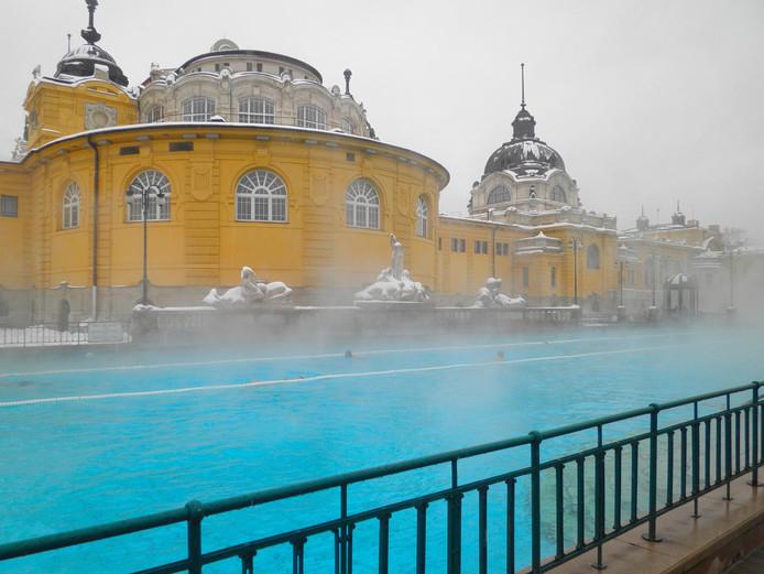 Les bains de Széchenyi à Budapest.