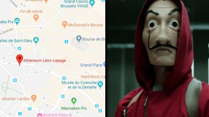 Paniek op Brusselse school: indringer met 'Casa de Papel'-masker valt klas binnen met (nep)wapen