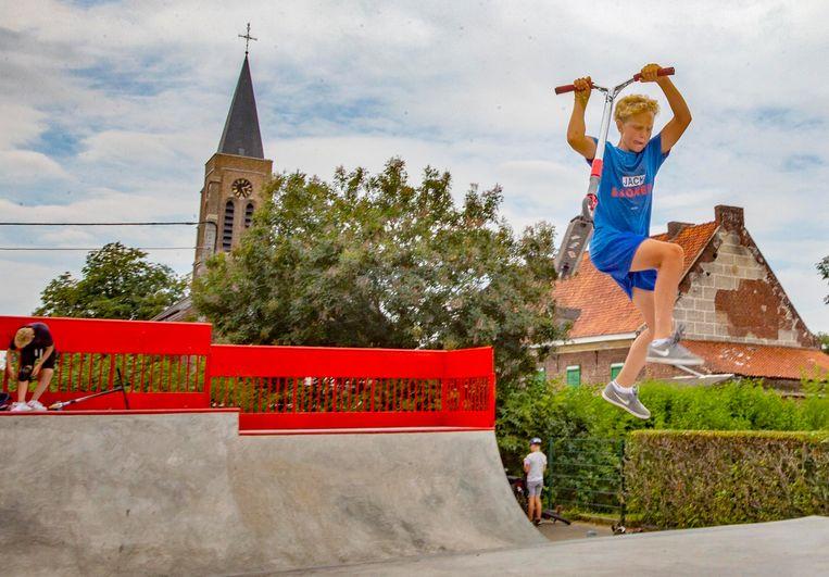 Het gloednieuwe skatepark van Kooigem