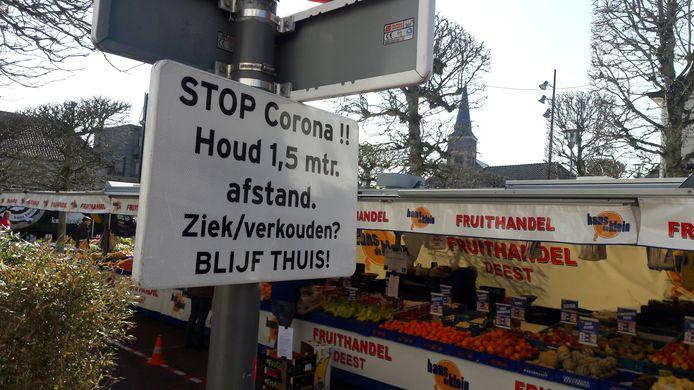 De weekmarkt in Wijchen.