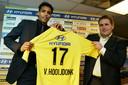 Lokhoff en Van Hooijdonk werkten ook samen als coach en speler bij NAC.