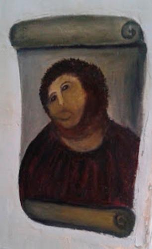 Na de restauratie zag de Heiland eruit als een aap