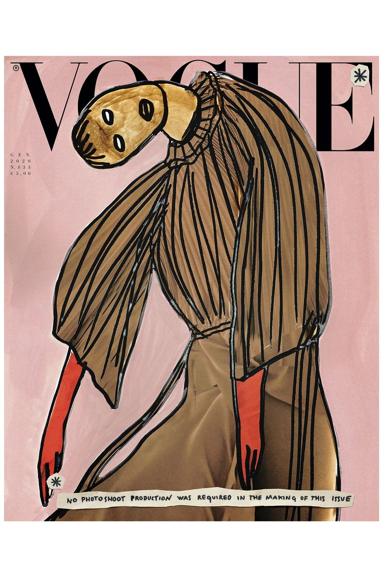 Cover van januari-editie van Vogue Italia. Beeld