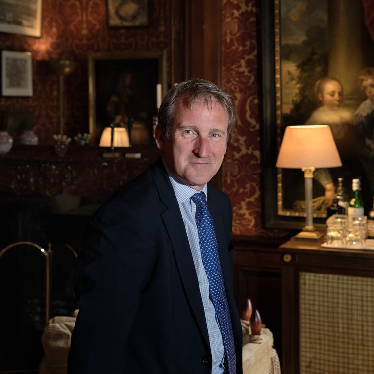 Onderwijsminister Damian Hinds viert ook graag vakantie in Drenthe. Beeld Inge Van Mill