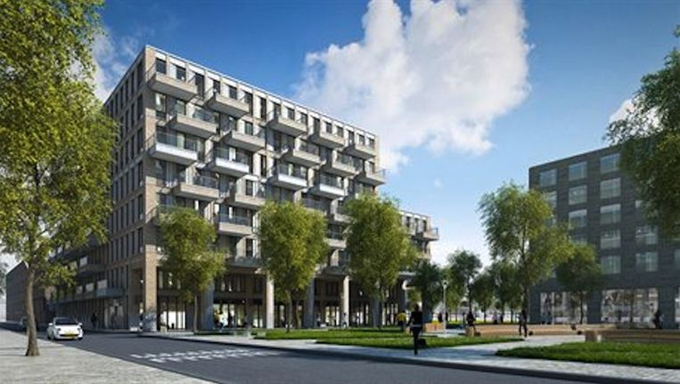 De bouw van Square Zuidas is begin dit jaar gestart. Beeld Amsterdam