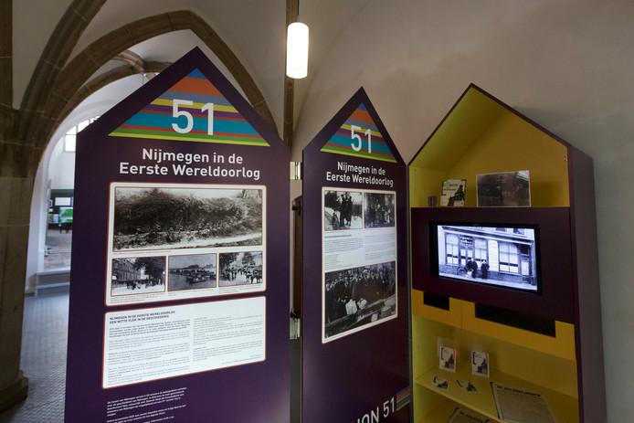 Een expositie over de Eerste Wereldoorlog in de Mariënburgkapel/Huis voor de Nijmeegse Geschiedenis.