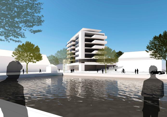 Impressie van het nieuwe appartementencomplex.