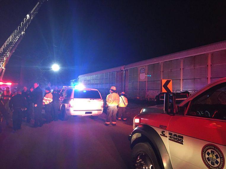 De politie van Lexington verspreidt deze foto van het ongeval.