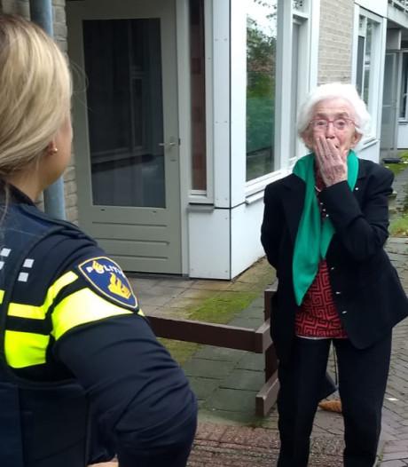 Politie slaat oma Mia (90) uit Winterswijk in de handboeien en gooit haar de bak in