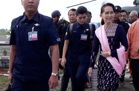 Nobelprijswinnares Suu Kyi ligt internationaal onder vuur omdat ze te weinig voor de Rohingya's zou doen.