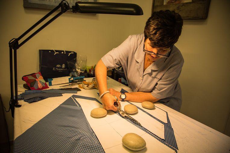 Alle dassen van Marinella worden met de hand gemaakt. Beeld Zolin Nicola