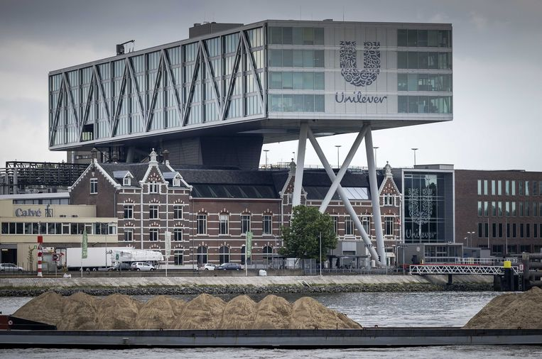 (Nu nog) het hoofdkantoor van Unilever in Rotterdam. Unilever wordt op papier een Brits bedrijf. Beeld ANP