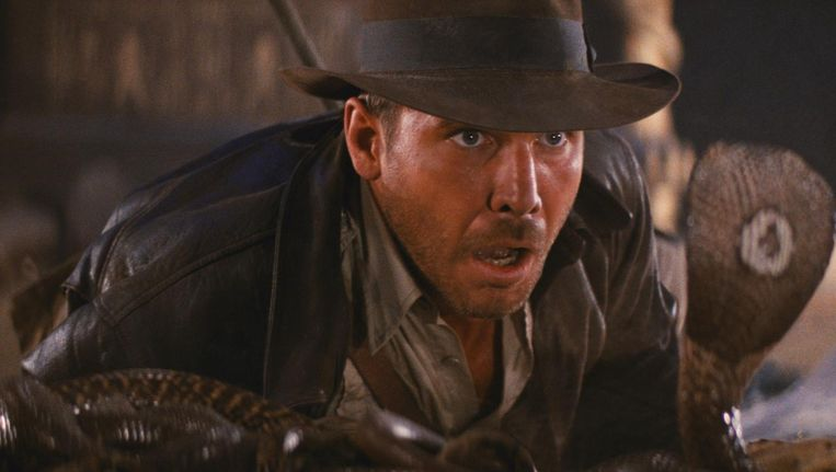 Harrison Ford in Raiders of the Lost Ark. Beeld
